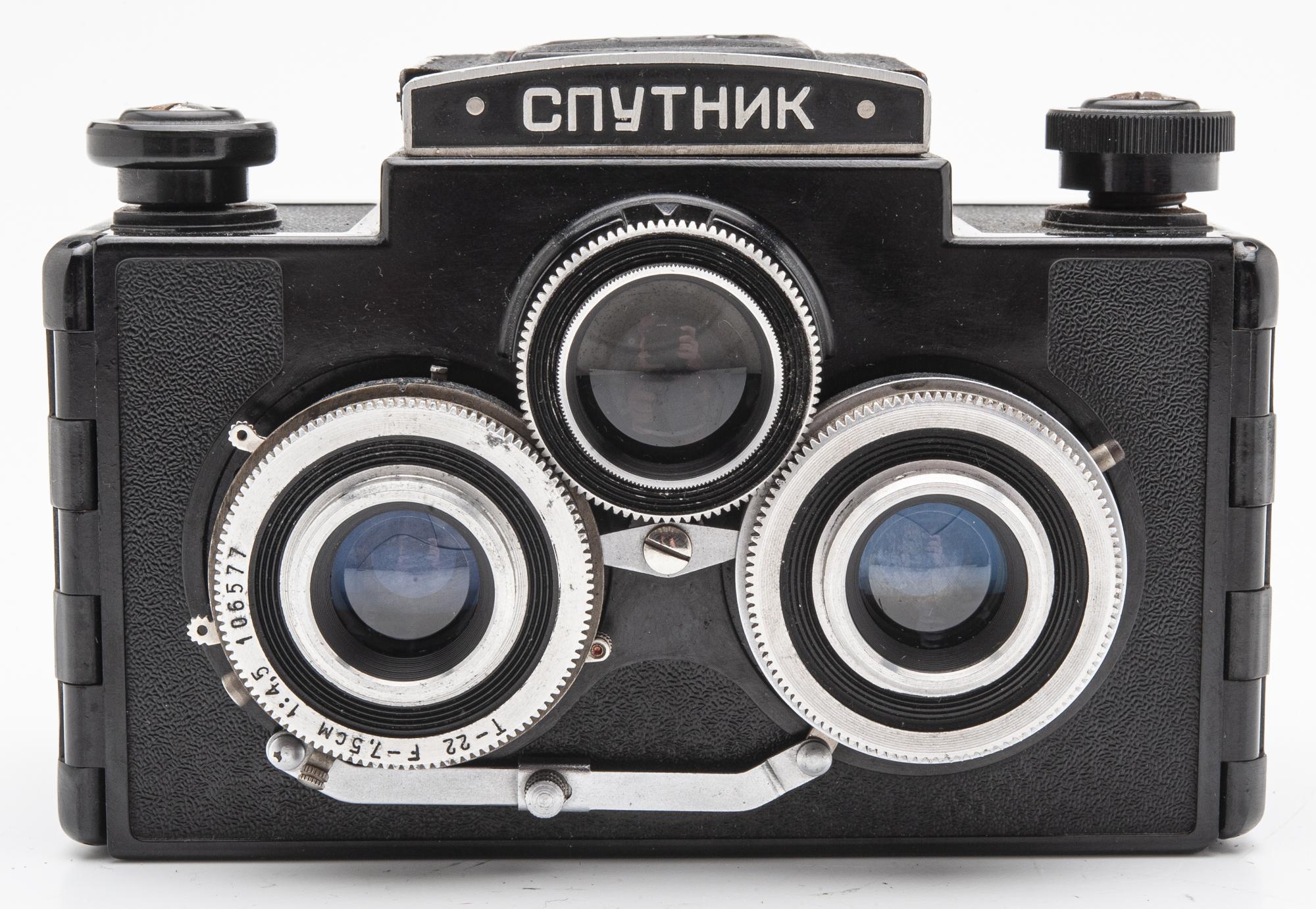 Sputnik russiche Stereokamera 6x6 Kamera Analogkamera - Industar 7,5cm 4.5 Optik