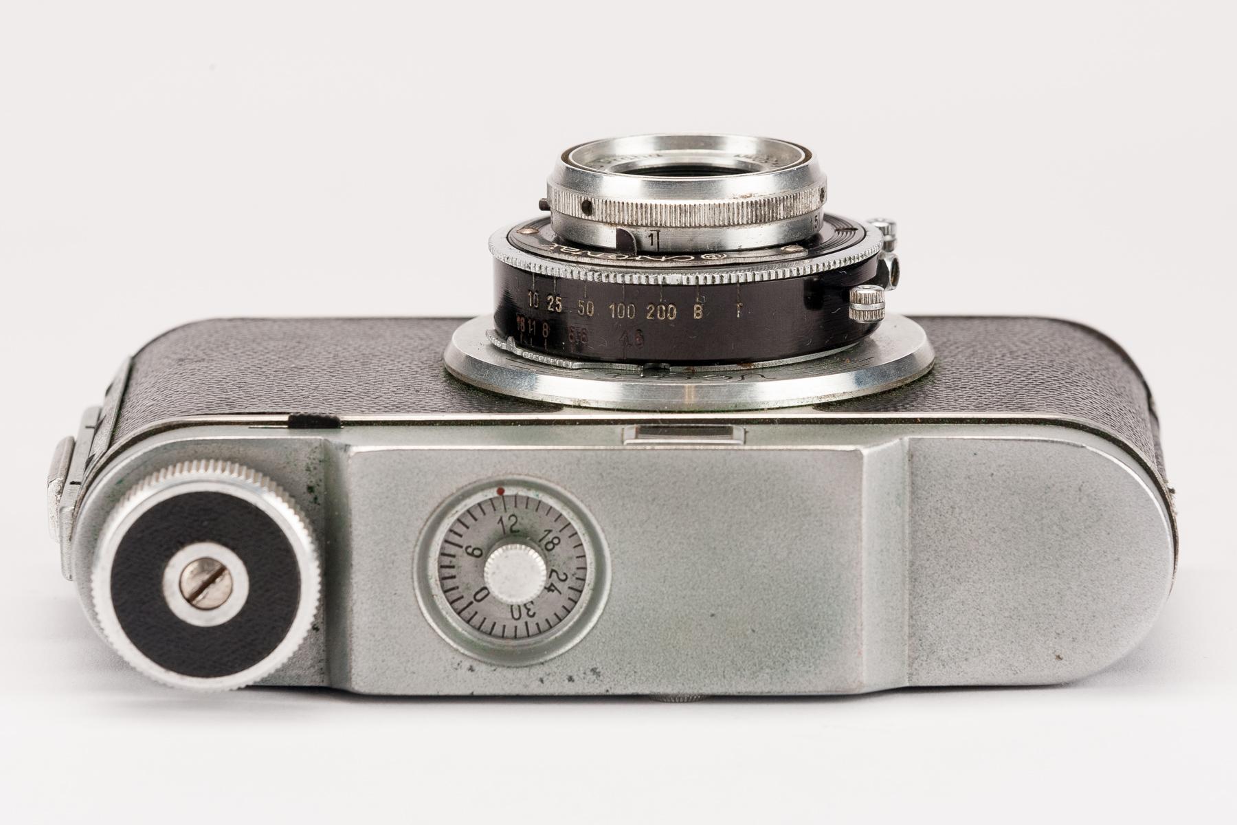 Cnontax Contax Vega Body Gehäuse Kamera mit Druopta Praha 50mm 4.5
