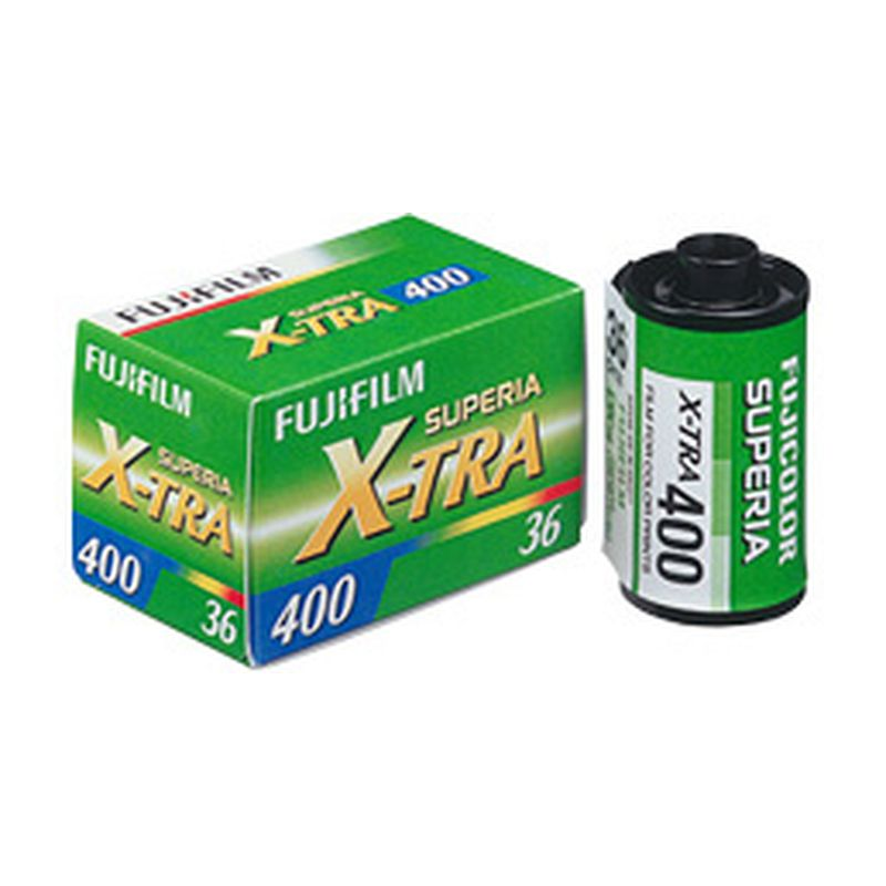 FUJI Superia 400 X-TRA negative color film, 135-36
